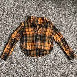 wild fable Crop Flannel